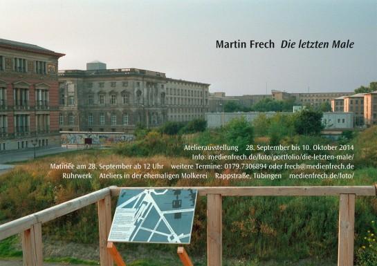 Dieter Loechle, Martin Frech: Einladung zur Atelierausstellung 2014